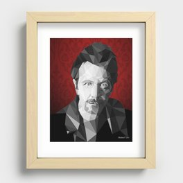Gary Oldman low poly Recessed Framed Print