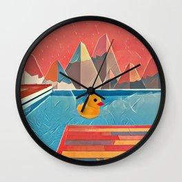 Little duck in the pool Wall Clock
