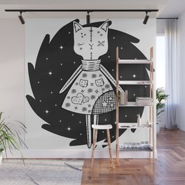 Halloween Story - Voodoo Cat Doll Wall Mural