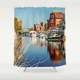 At the riverside. Shower Curtain