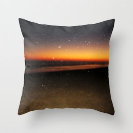 Beach dawn Throw Pillow