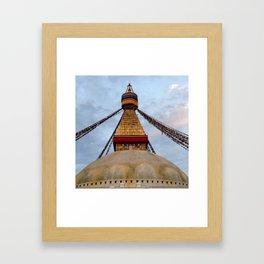 Boudhanath Stupa - Ellie Wen Framed Art Print