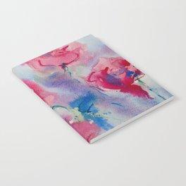 Roses in watercolor Notebook
