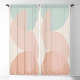 Geometric Harmony II - Soft Morning Blackout Curtain