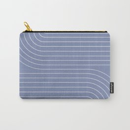 Minimal Line Curvature - Blue Carry-All Pouch