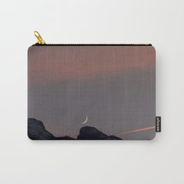 Moonset over the Swiss Alps Carry-All Pouch