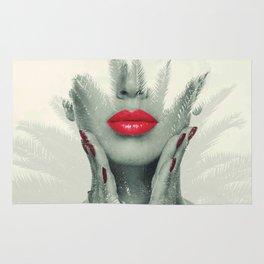 pucker up art Rug