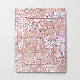 Vintage Anaheim & Garden Grove CA Map (1965) Metal Print