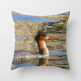 Common Merganser Throw Pillow