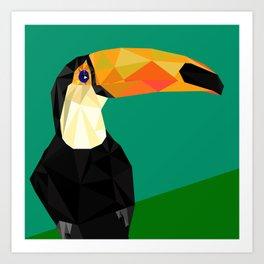 Toucan Bird artwork Geometric Tropical birds Brazil Art Print