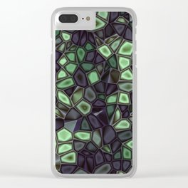 Fractal Gems 04 - Emerald Dreams Clear iPhone Case