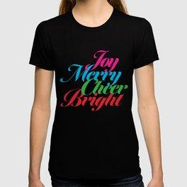 Joy Cheer Merry Bright T-shirt
