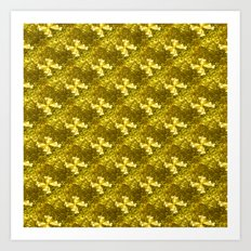 Golden Bows  Art Print