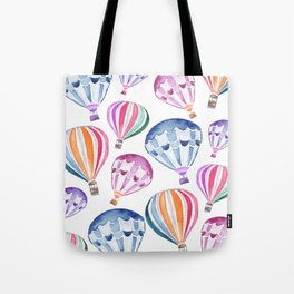 Colorful Hot Air Balloon Pattern Tote Bag