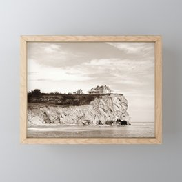 Big House on the Cliff Framed Mini Art Print