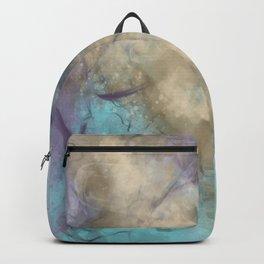 Teal, Purple, Gold Geode Backpack