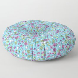 Flowers, Clovers & Diamonds Floor Pillow