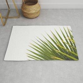 Tropical Palm Green Plant Leaf Minimalist Modern Photo Rug