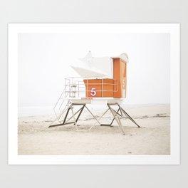 Orange Beach Tower Art Print