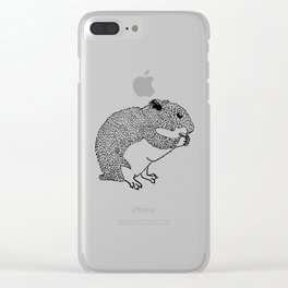 Hungry Hamster Eating A Seed Clear iPhone Case