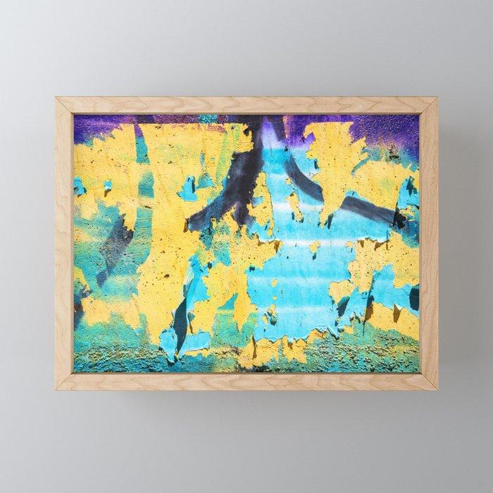 Softly peeling paint Framed Mini Art Print