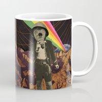 cowboy Mugs featuring Galactic Cowboy by Dan Howard