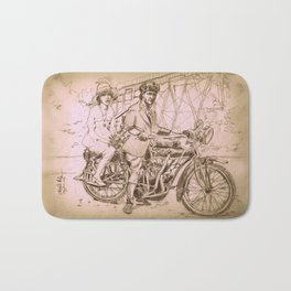 Motorcycle Duo Bath Mat