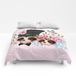 Together Forever - Sugar Skull Bride & Groom Comforters