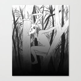 wounded stag Canvas Print