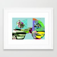 f1 Framed Art Prints featuring F1 by Daily Rorschach