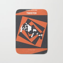 No560 My Twister minimal movie poster Bath Mat