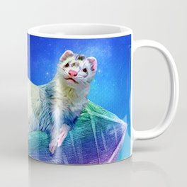 Ferret in the Sky with Crystals Coffee Mug