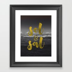 Sol & Sal Framed Art Print
