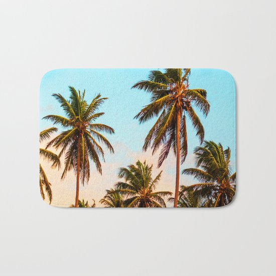 Palms trees. Bath Mat