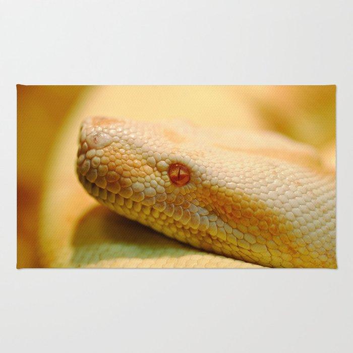 Albino Indian python Rug