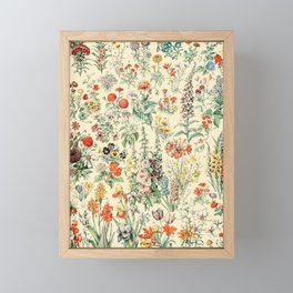 Wildflower Diagram // Fleurs II by Adolphe Millot XL 19th Century Science Textbook Artwork Framed Mini Art Print