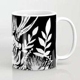 Animal Skull Deer Foliage Memento Mori Goth Witchy Coffee Mug