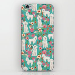 Cockapoo floral dog breed dog pattern pet friendly cocker spaniel poodle iPhone Skin