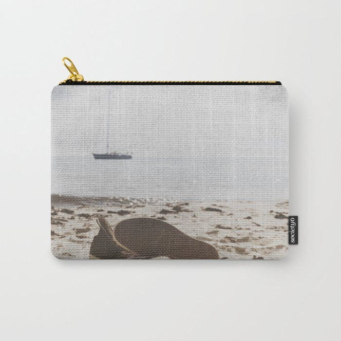 Dream of summer Lonely shoes at the Beach- Summer day- #Society6 Carry-All Pouch
