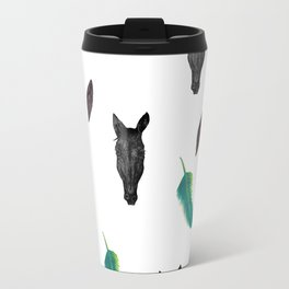 Horse and feathers pattern Travel Mug
