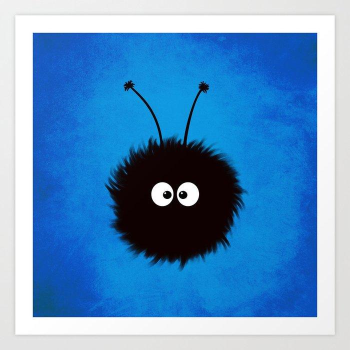 Blue Cute Dazzled Bug Art Print