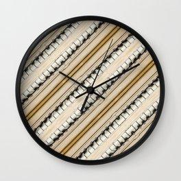 Vintage Piano Keys Graphic Wall Clock
