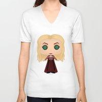 hocus pocus V-neck T-shirts featuring Hocus Pocus Sarah by SpaceWaffle
