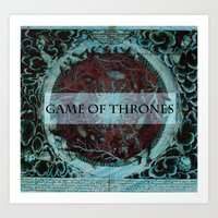 tyrion Art Prints featuring Game of Thrones by Jesse Campbell