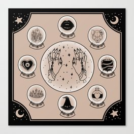 Witch Accessories Canvas Print
