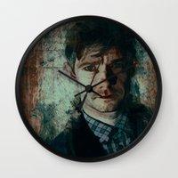 emma watson Wall Clocks featuring Watson by Sirenphotos