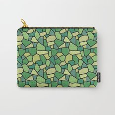 Stained Glass Green Carry-All Pouch