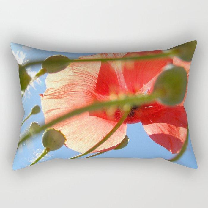 wild poppy Rectangular Pillow
