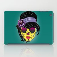 sugar skull iPad Cases featuring SUGAR SKULL by mark ashkenazi