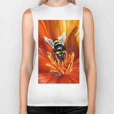 Bee on flower 1 Biker Tank